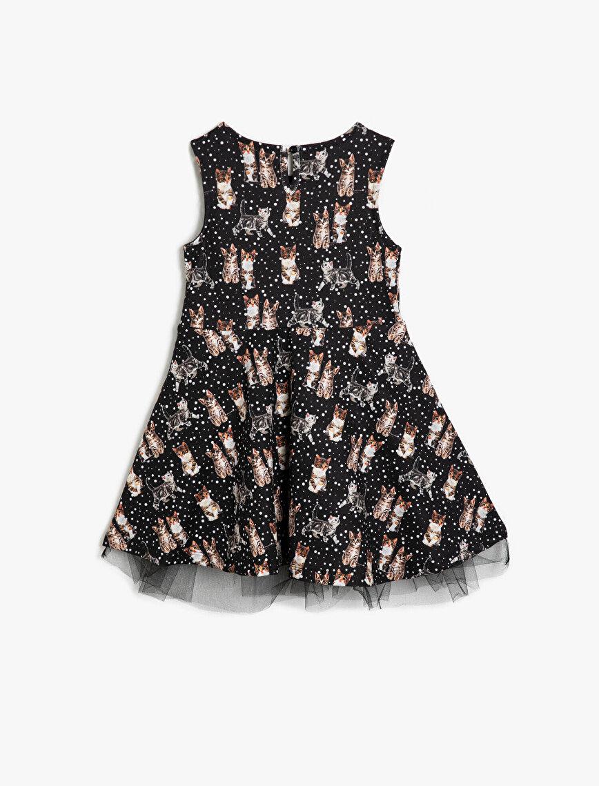 Hayvan Baskılı Elbise
