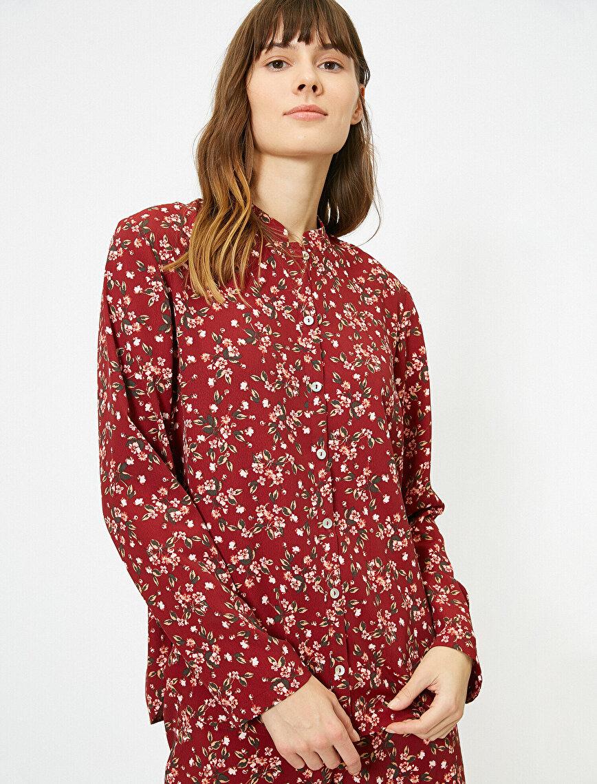 Desenli Pijama Üstü