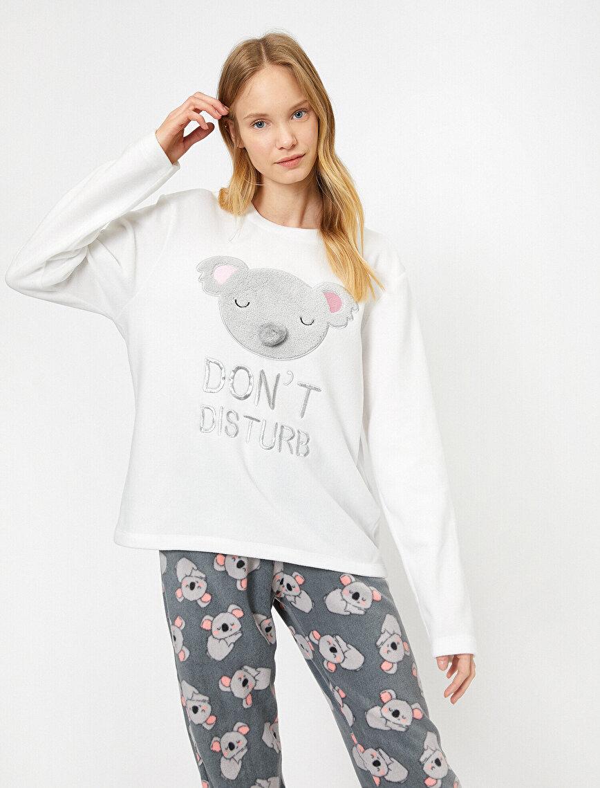İşlemeli Pijama Seti