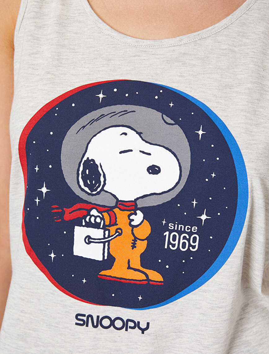Snoopy Lisanslı Baskılı Pijama Takımı