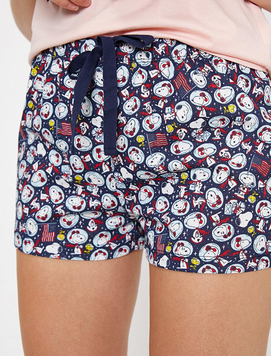 Snoopy Lisanslı Baskılı Pijama Seti