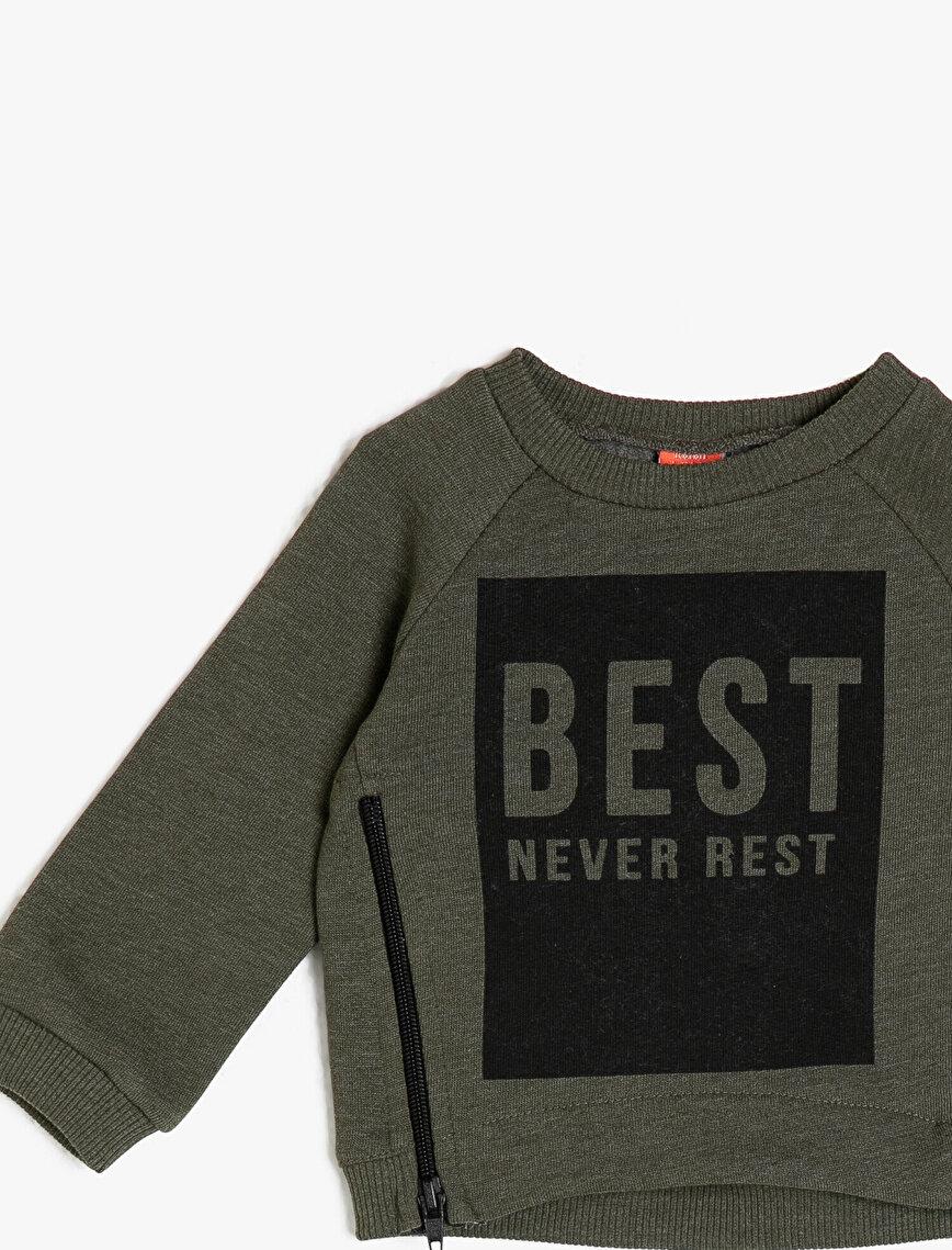 Fermuar Detaylı Swetshirt