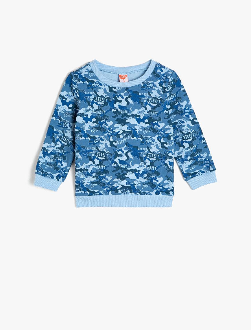 Kamuflaj Desenli Sweatshirt