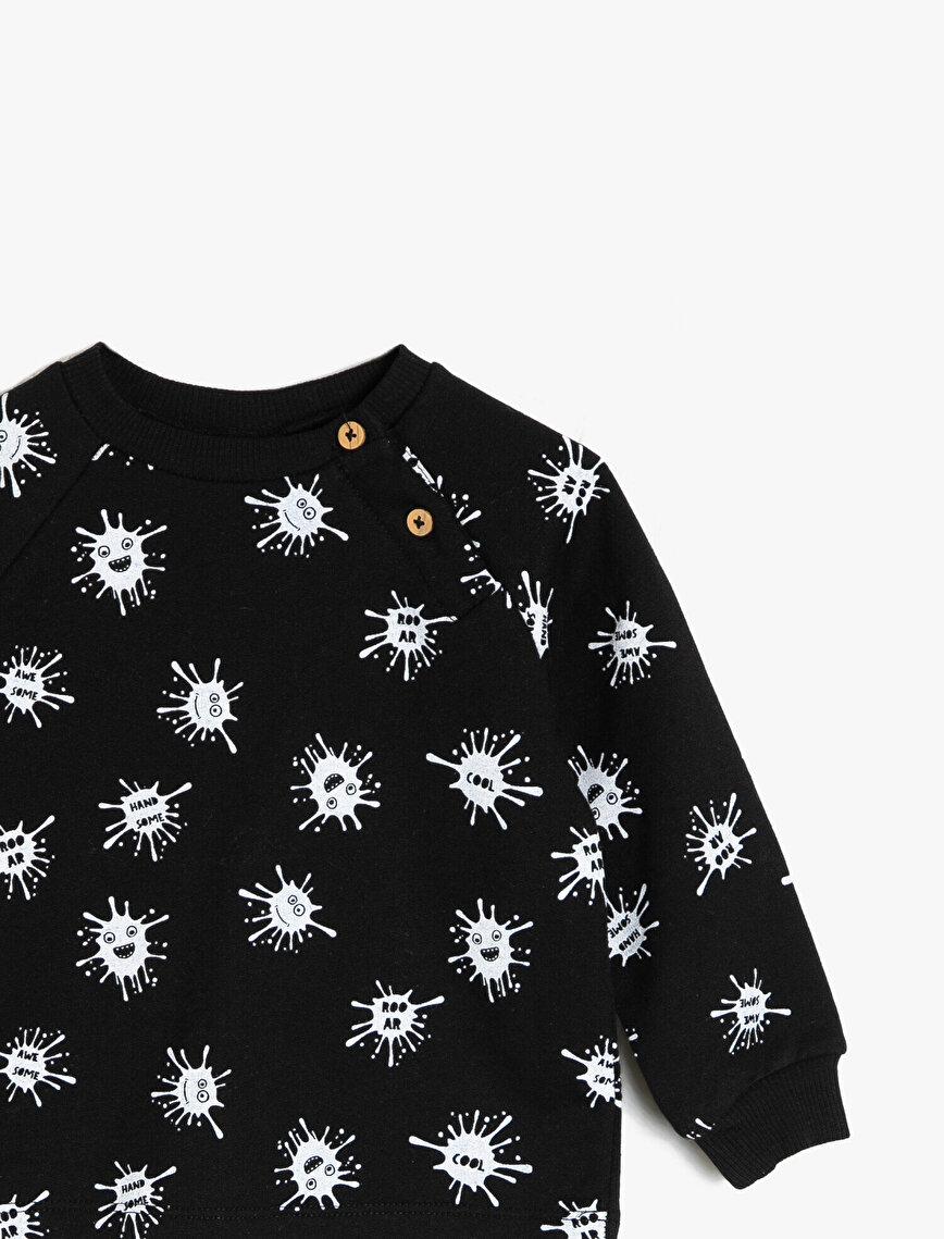 Düğme Detaylı Sweatshirt