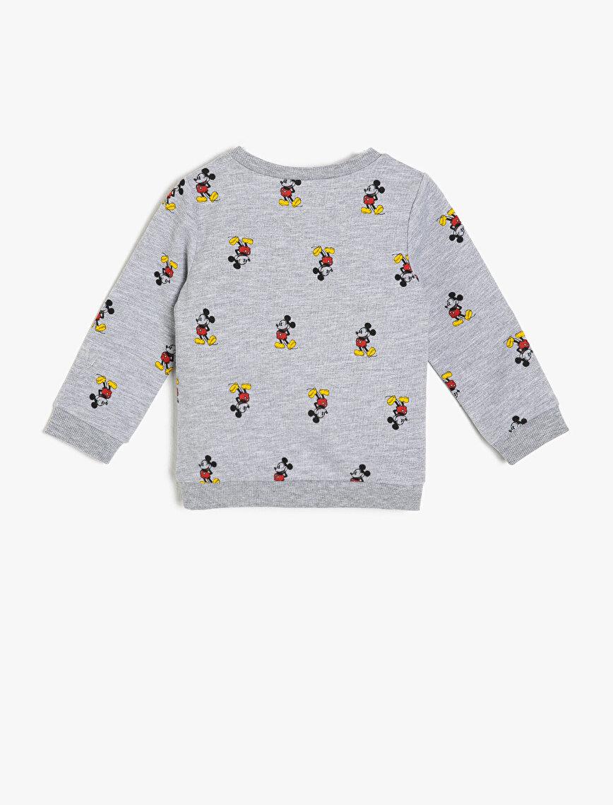 Mickey Mouse Lisanslı Baskılı Sweatshirt
