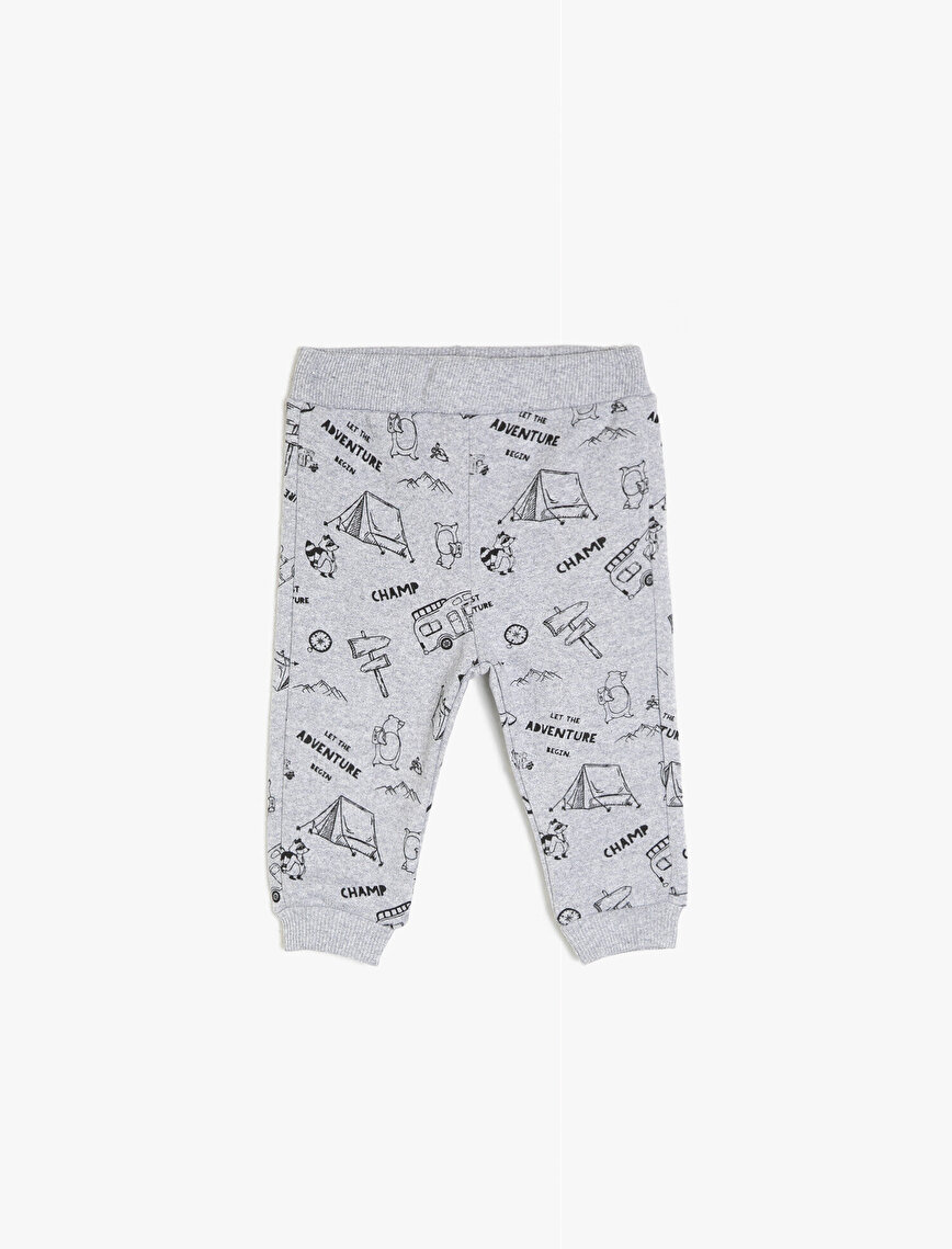 Letter Printed Jogging Pants