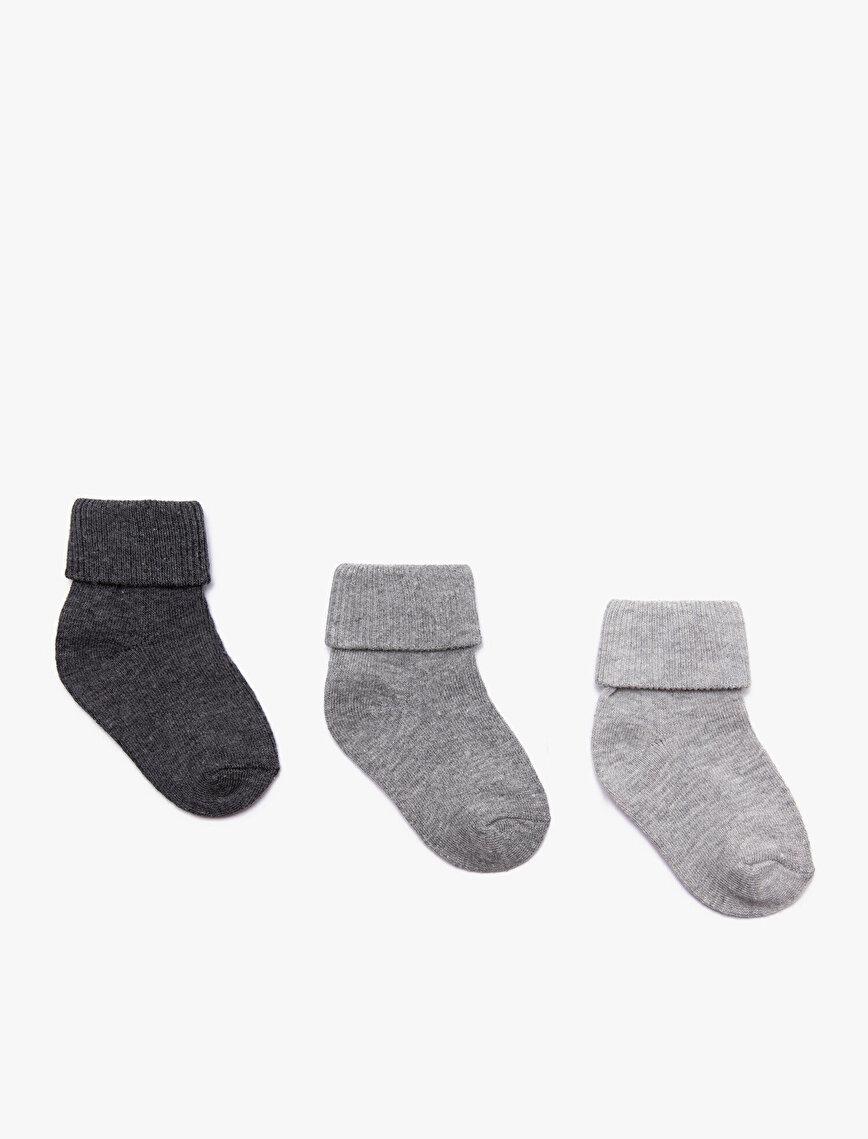 Erkek Bebek 3'lü Çorap
