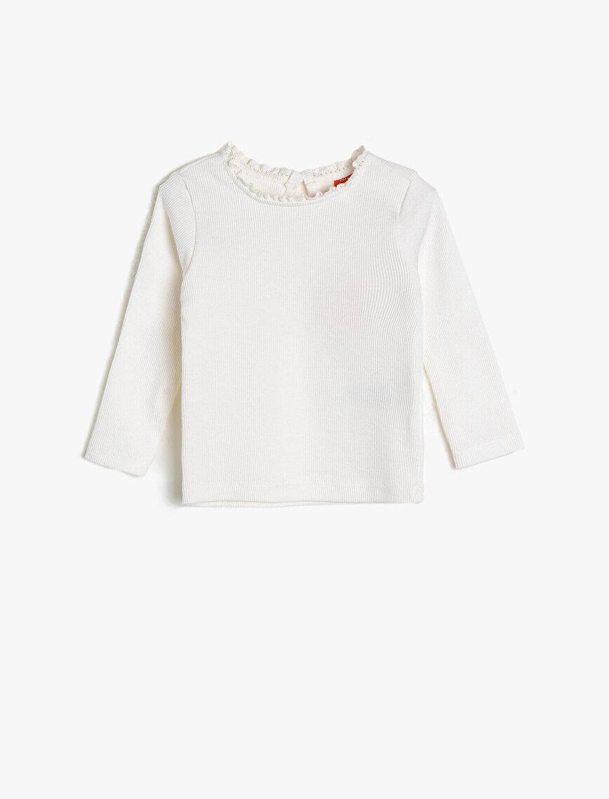 Fırfır Detaylı T-Shirt