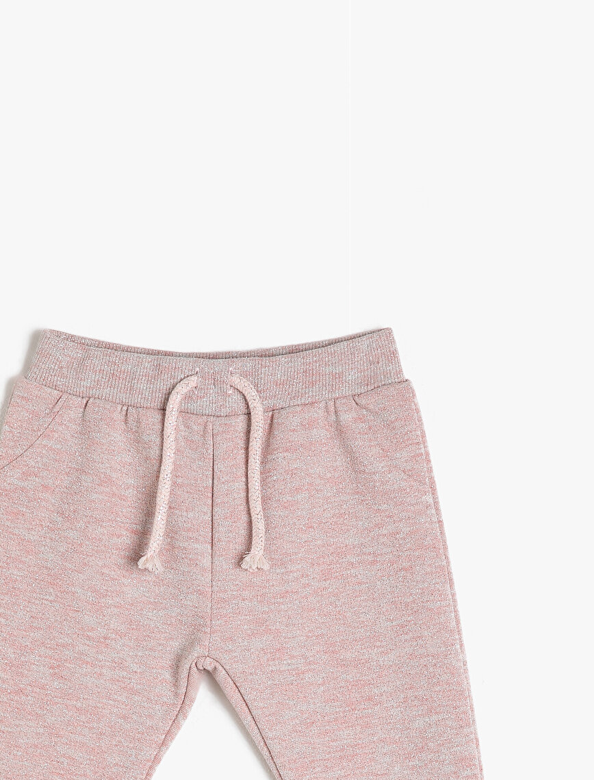 Tie Waist Sweat Bottoms
