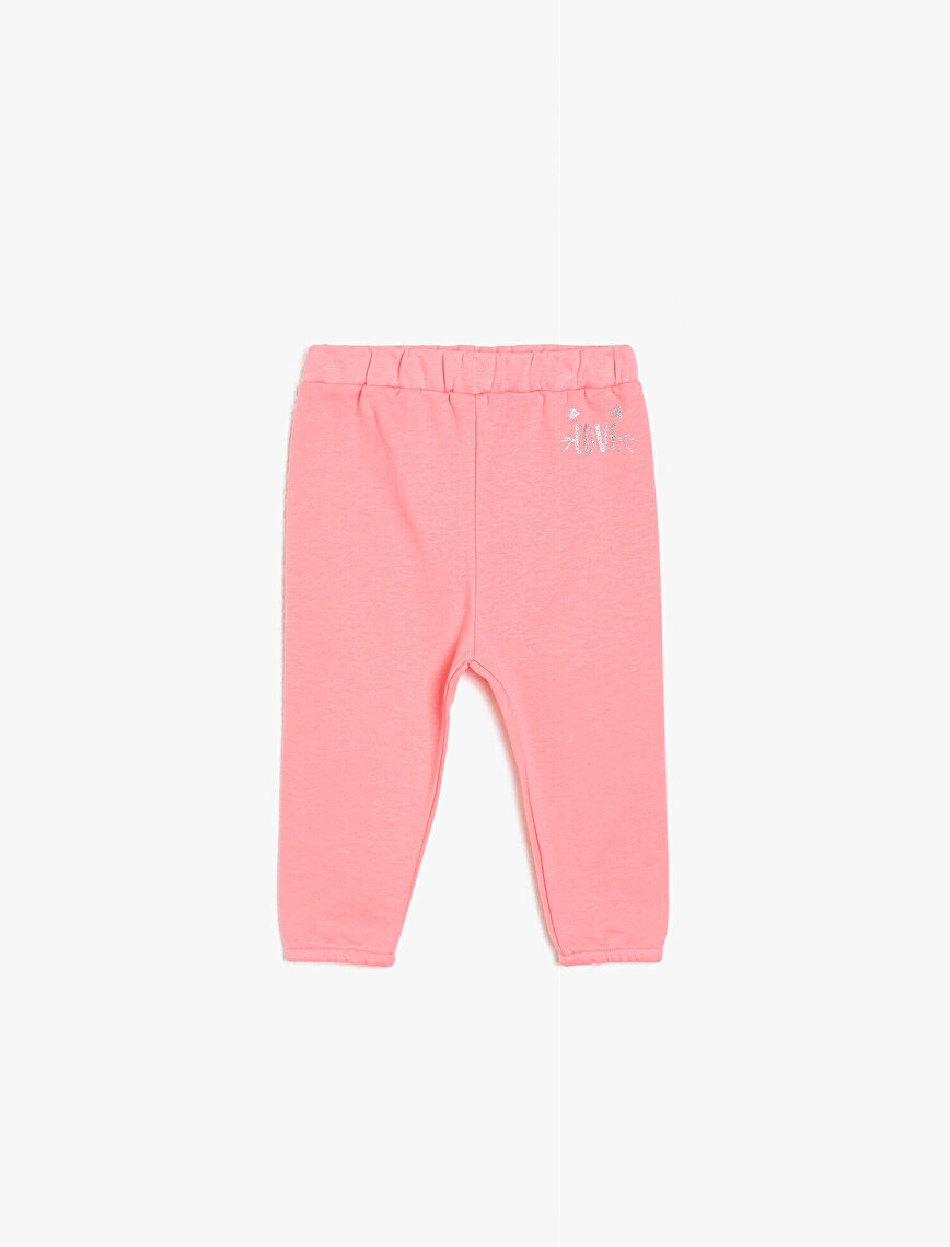 Shimmer Detailed Jogging Pants