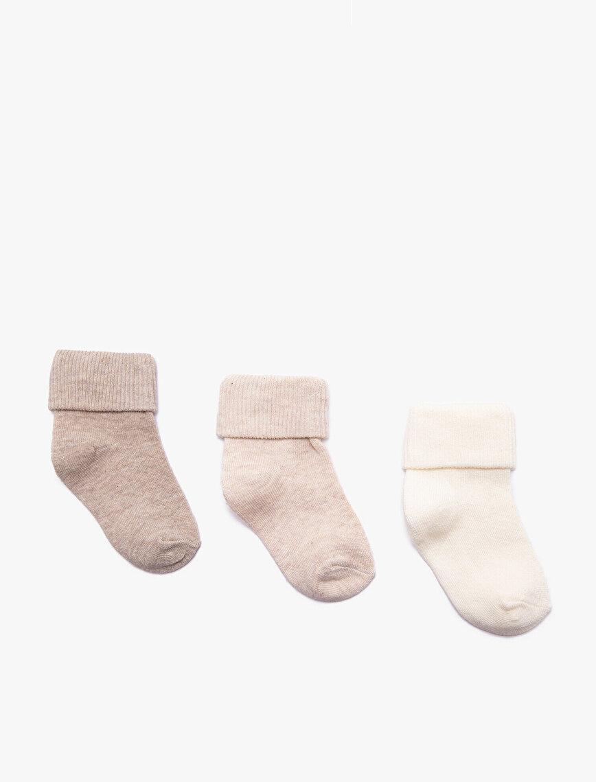 Kız Bebek 3'lü Çorap