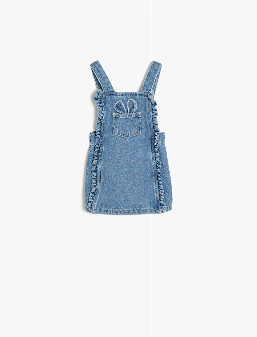 Frill Detailed Jean Dress