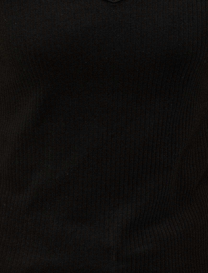 V Yaka Ribana Tişört