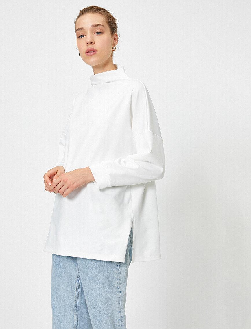 Balıkçı Yaka Scuba Sweatshirt