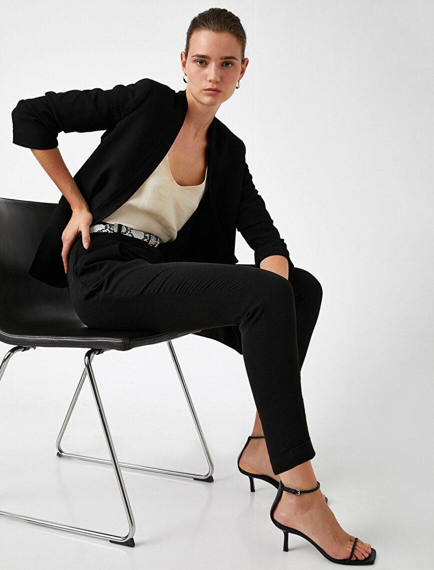 Normal Bel Kısa Paça Pantolon
