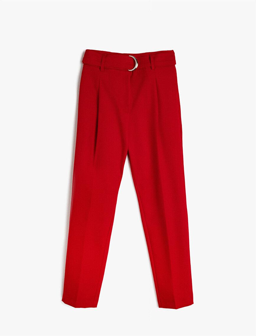 Arzu Sabancı for Koton Kemer Detaylı Pantolon