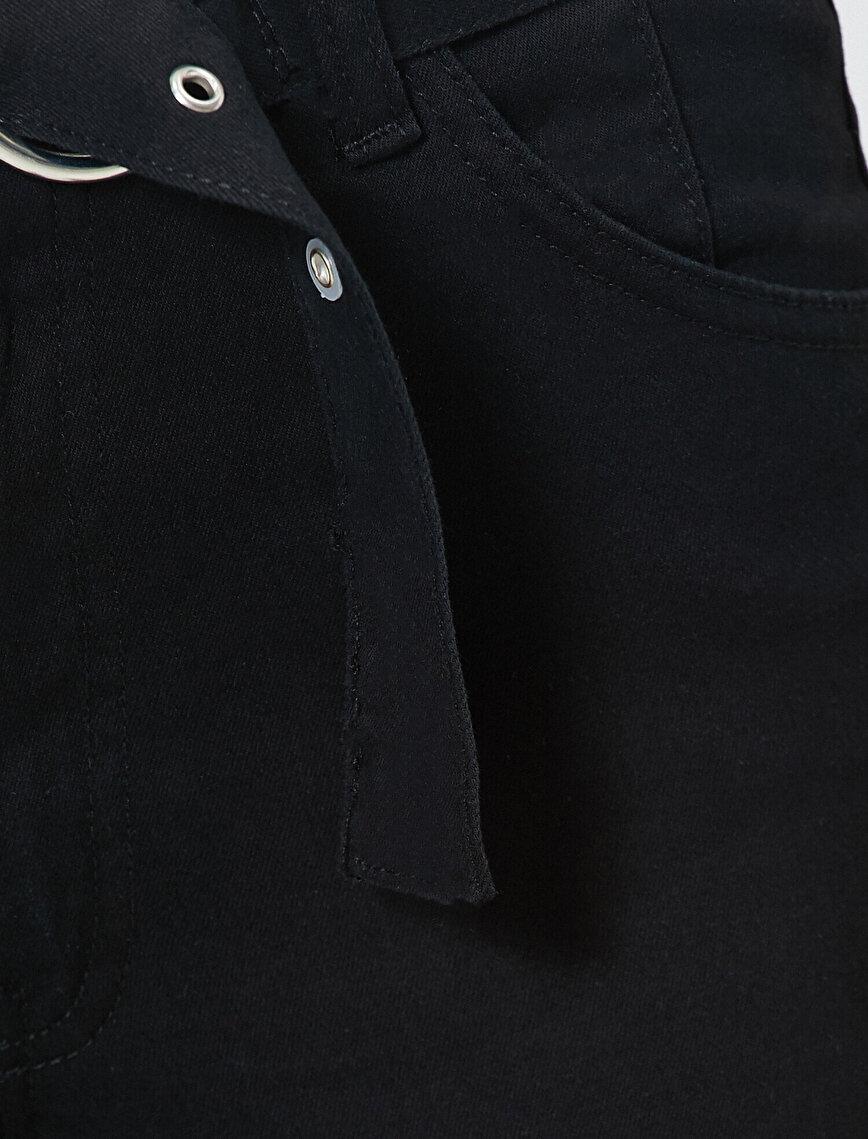 Kemer Detaylı Slim Fit Cep Detaylı Pantolon