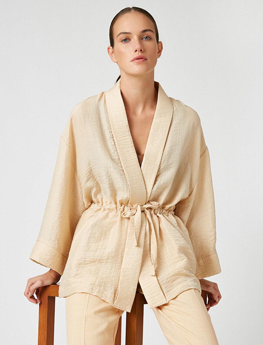 Drawstring Kimono