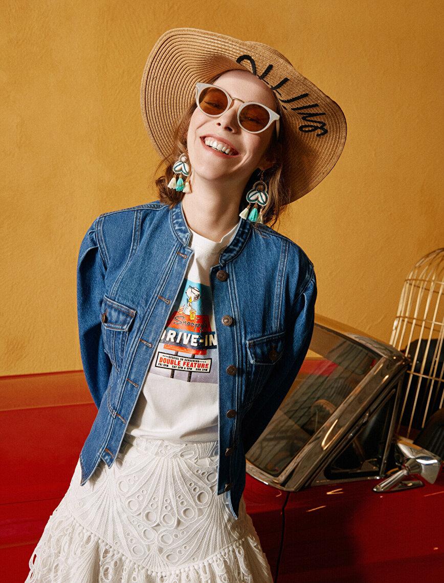 Skirtly Yours Styled by Melis Ağazat - Cep Detaylı Jean Ceket