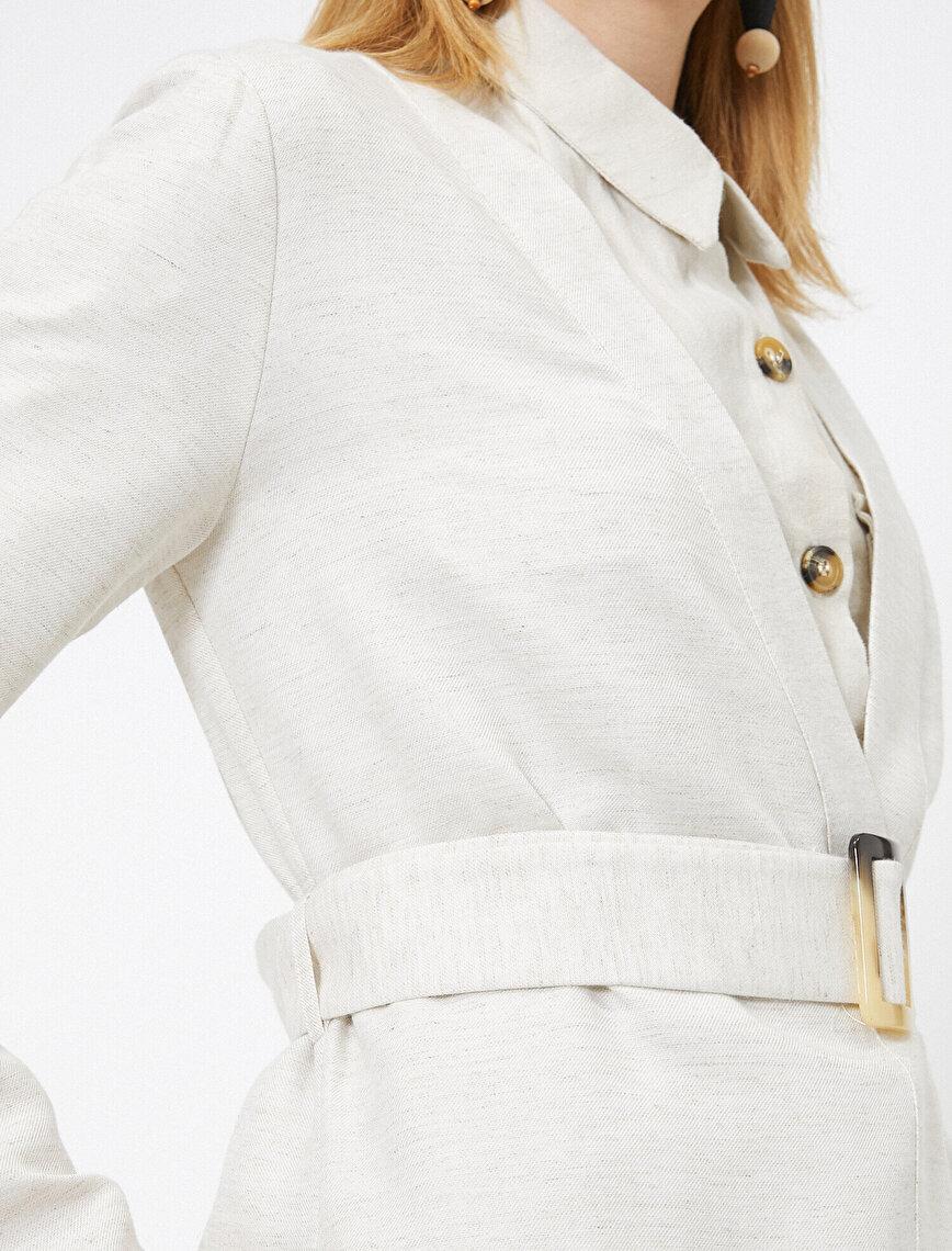 Belt Detailed Kimono