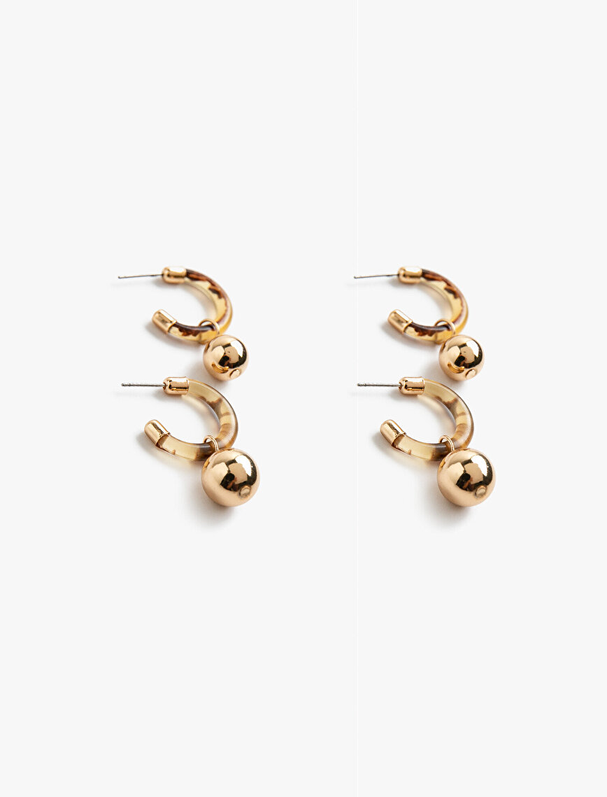 Metallic Earrings Set