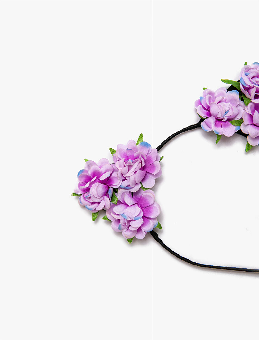 Flower Embellished Hair Crown