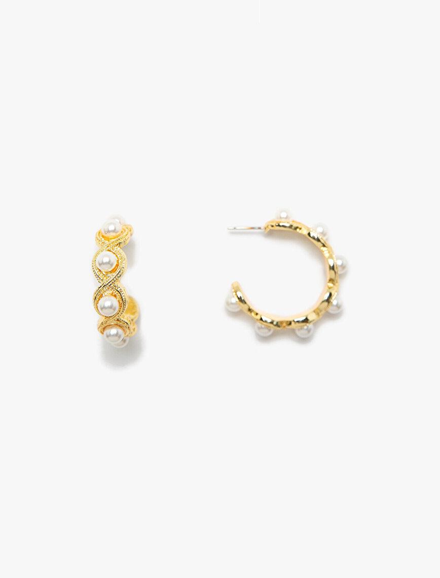 Pearl Detailed Earrings