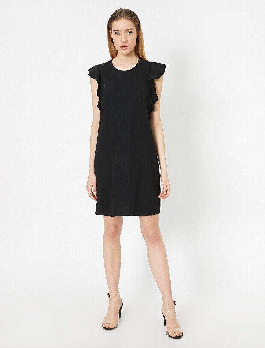 Fırfır Detaylı Elbise