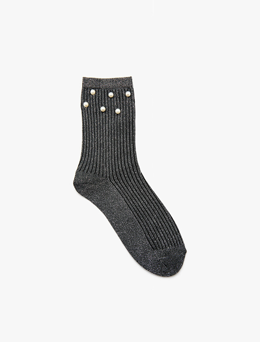 Beads Detailed Socks