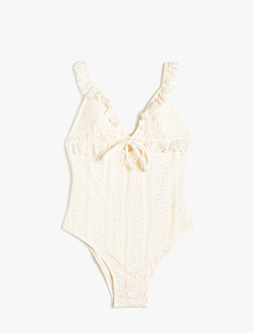 Lace Frilled Swimsuit