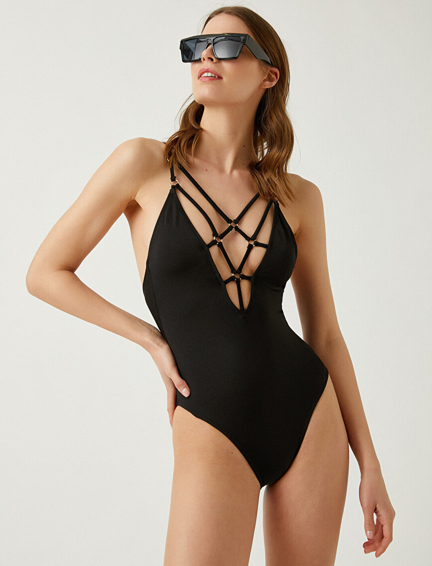 Strap Detailed Swimsuit