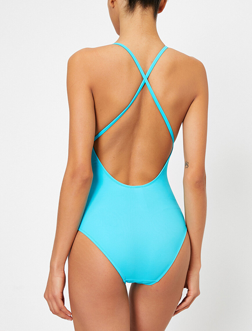 Neck Detailed Swimsuit