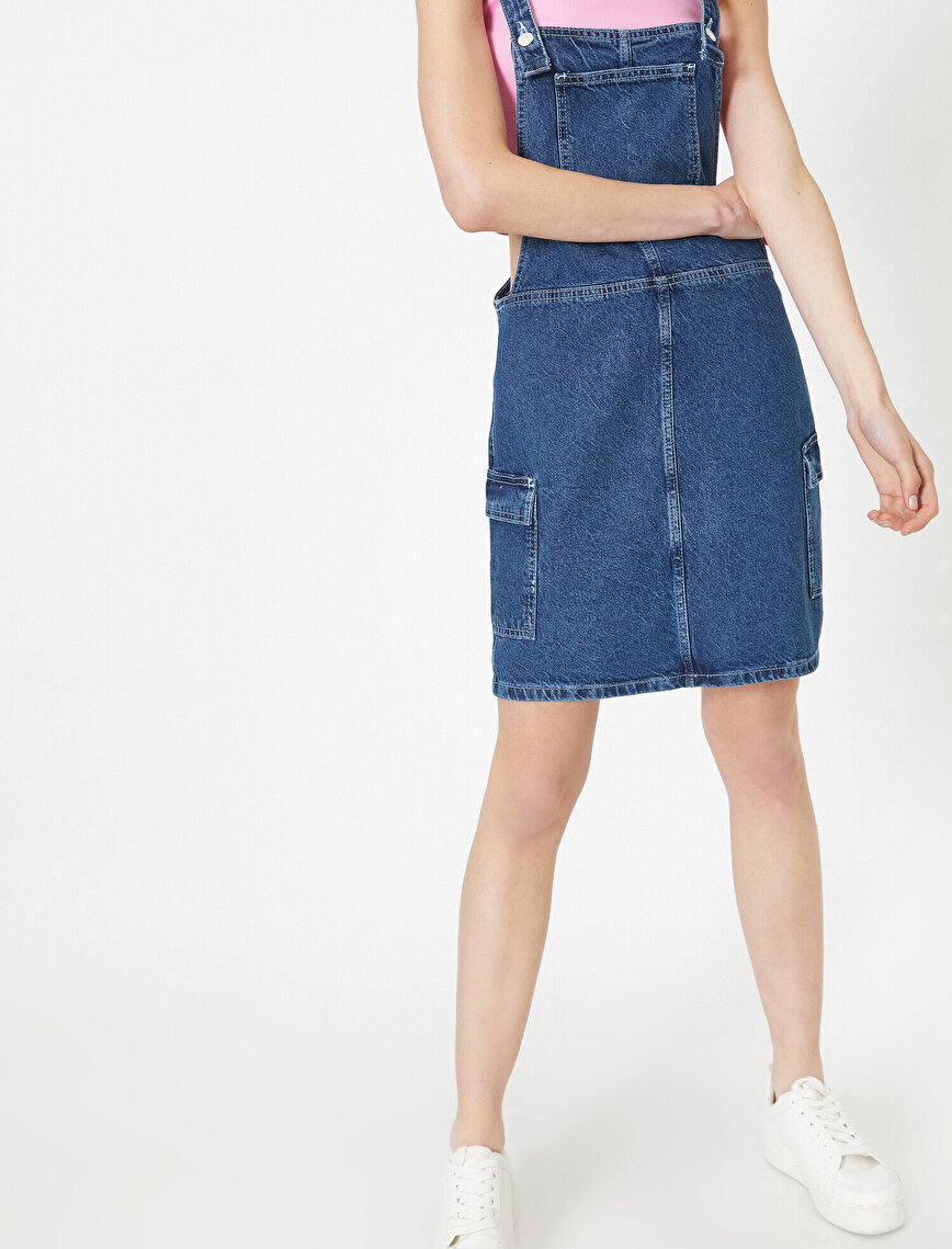 Pocket Detailed Jean Dress