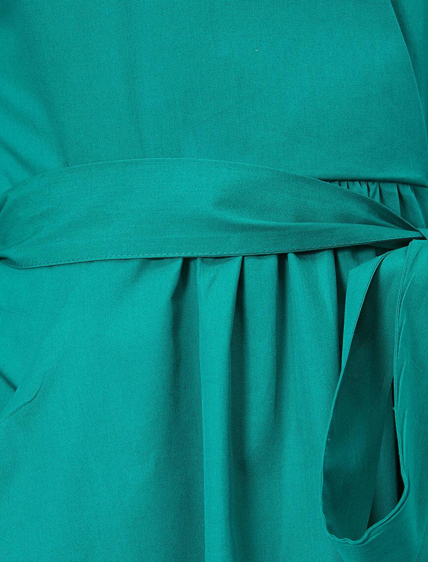 Beli Bağlamalı Elbise