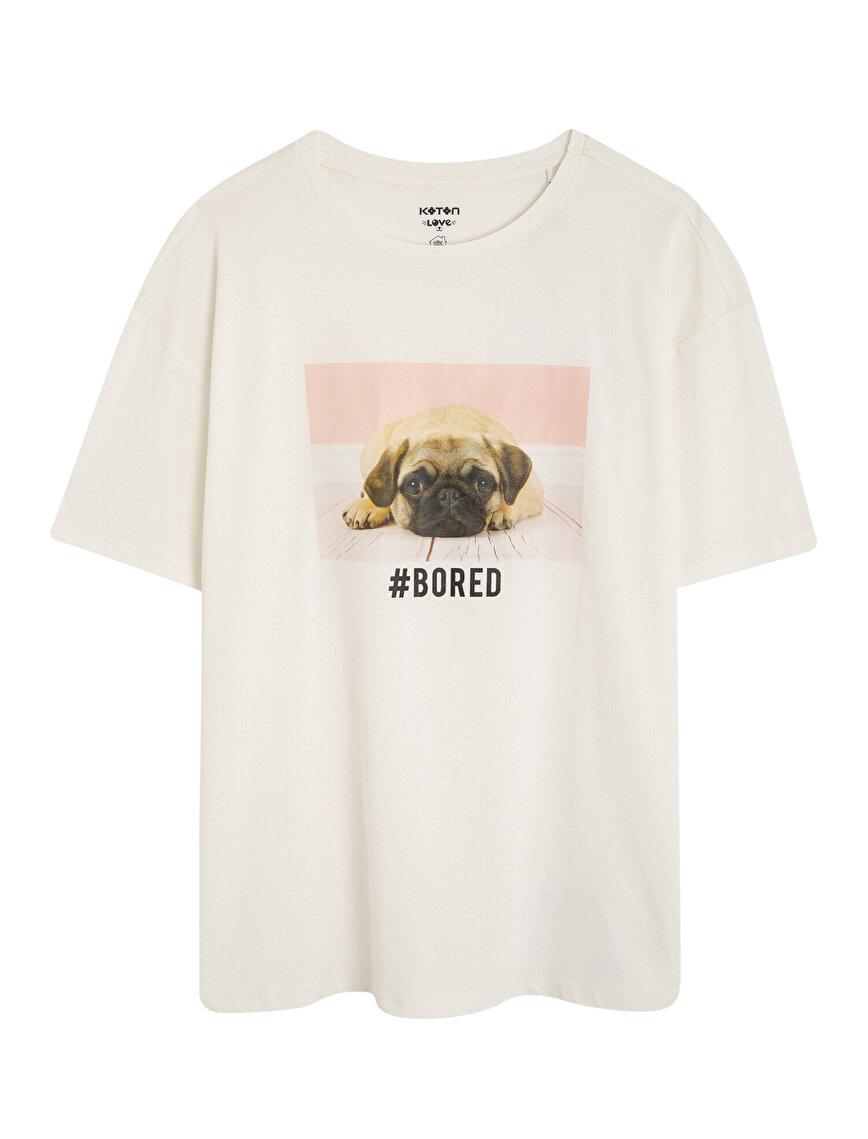 Koton Love Baskılı Kısa Kollu Tişört