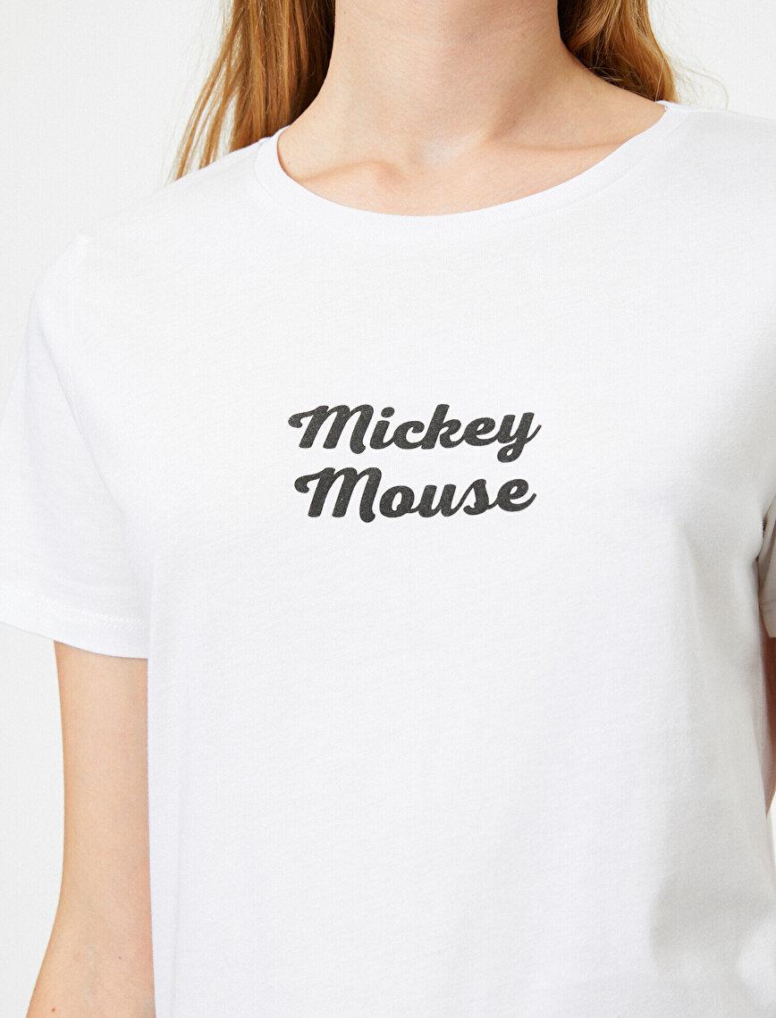 Mickey Mouse Lisanslı Yazılı Baskılı Tişört