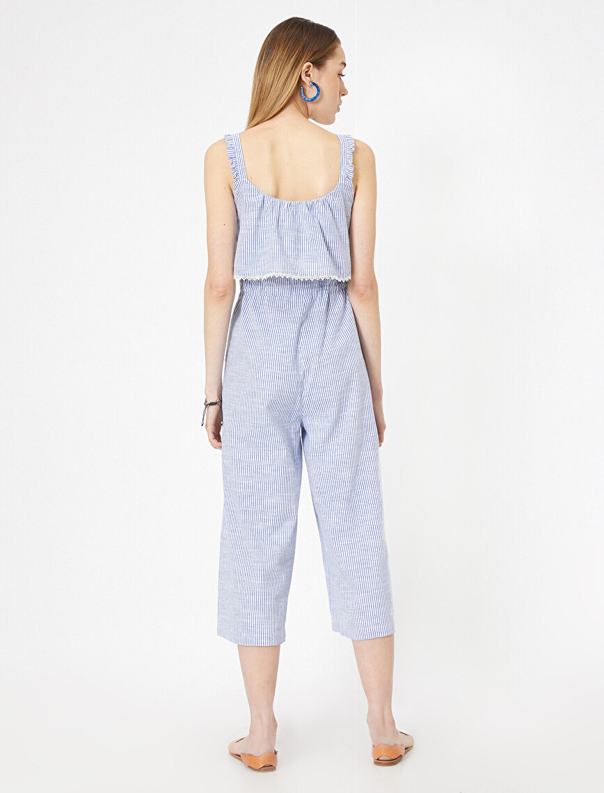 Lace Detailed Poplin Jumpsuit