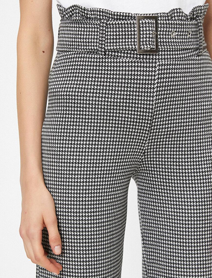Belt Detailed High Waist Trousers