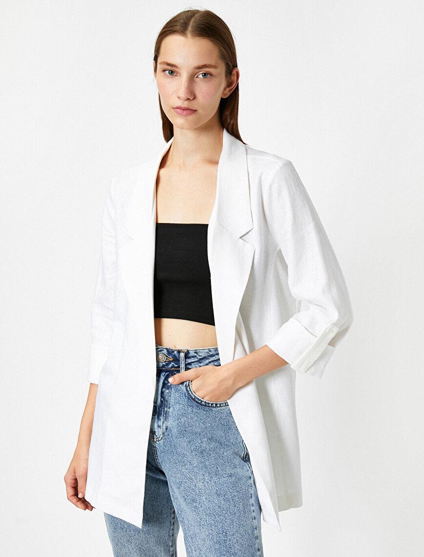 Gömlek Yaka Uzun Ceket