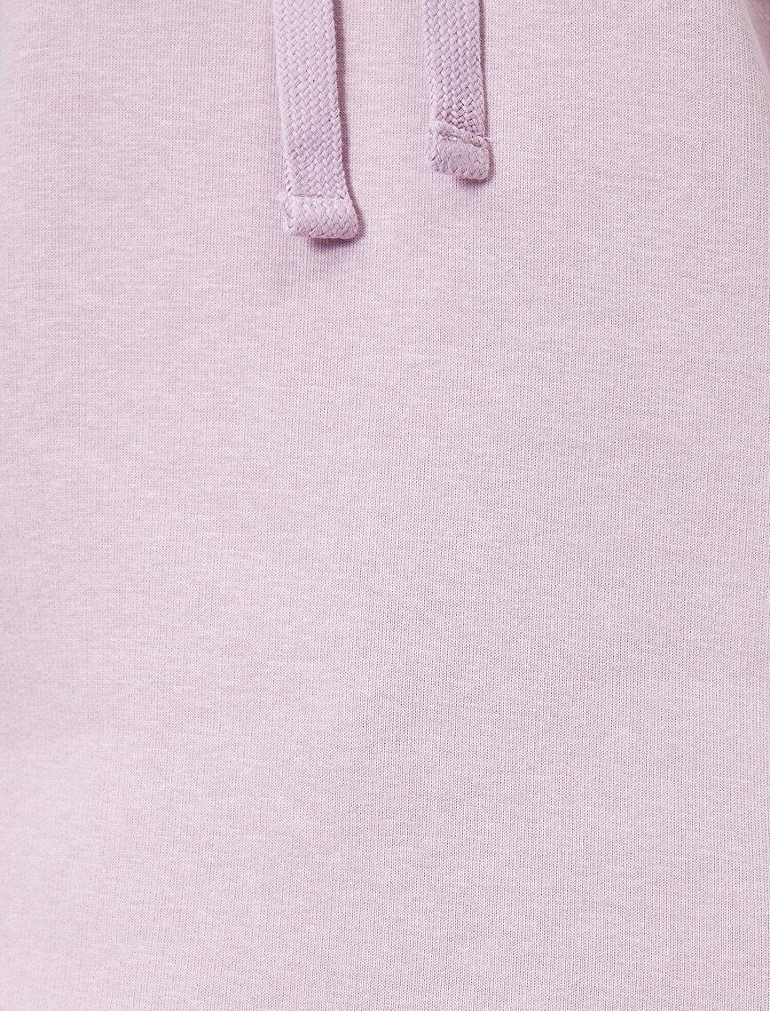 Kapüşonlu Sırt Baskılı Sweatshirt
