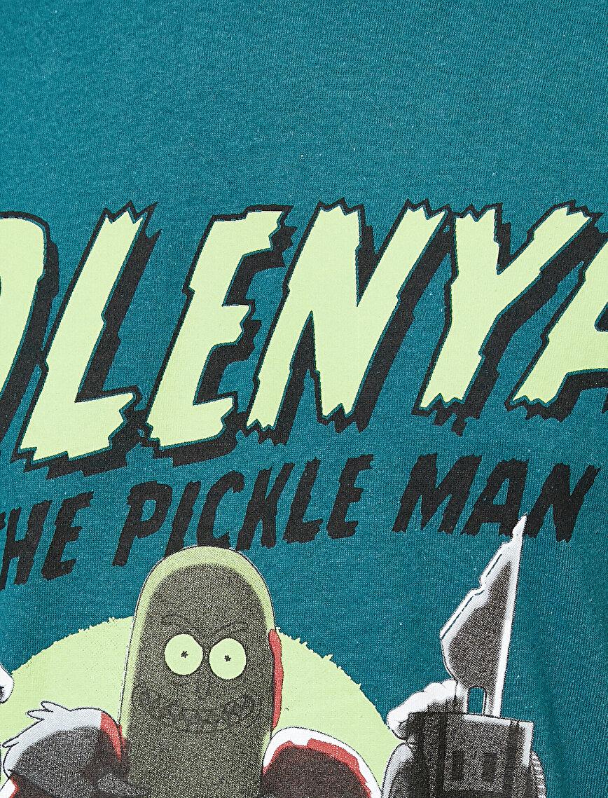Rick And Morty Lisanslı Baskılı Kısa Kollu Tişört