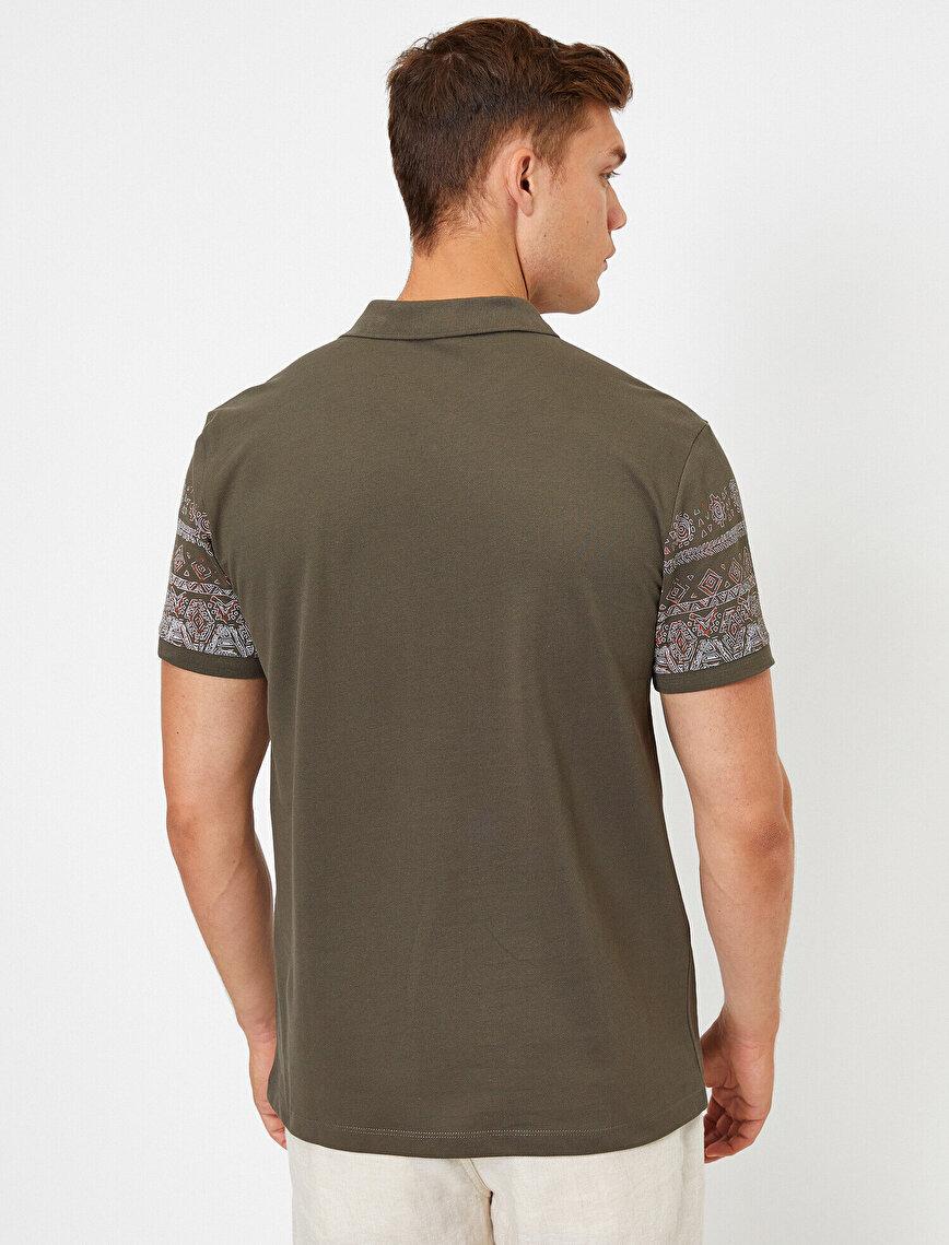 Cotton Polo Neck Printed T-Shirt