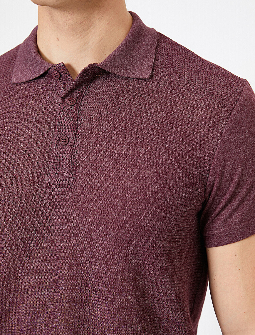 Polo Neck -T-Shirt