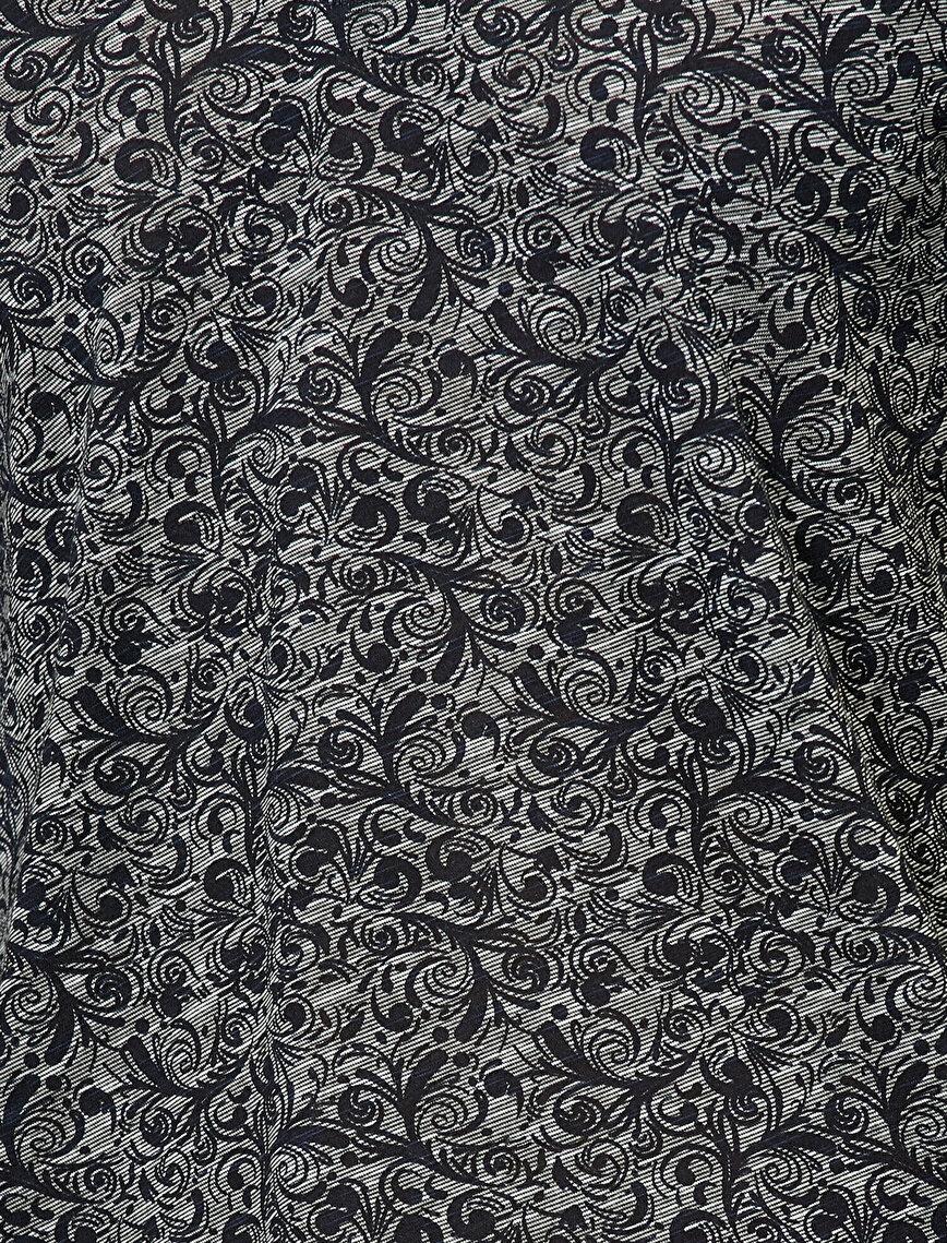 Polo Yaka Çiçek Desenli Flamlı Kumaş Slim Fit Tişört