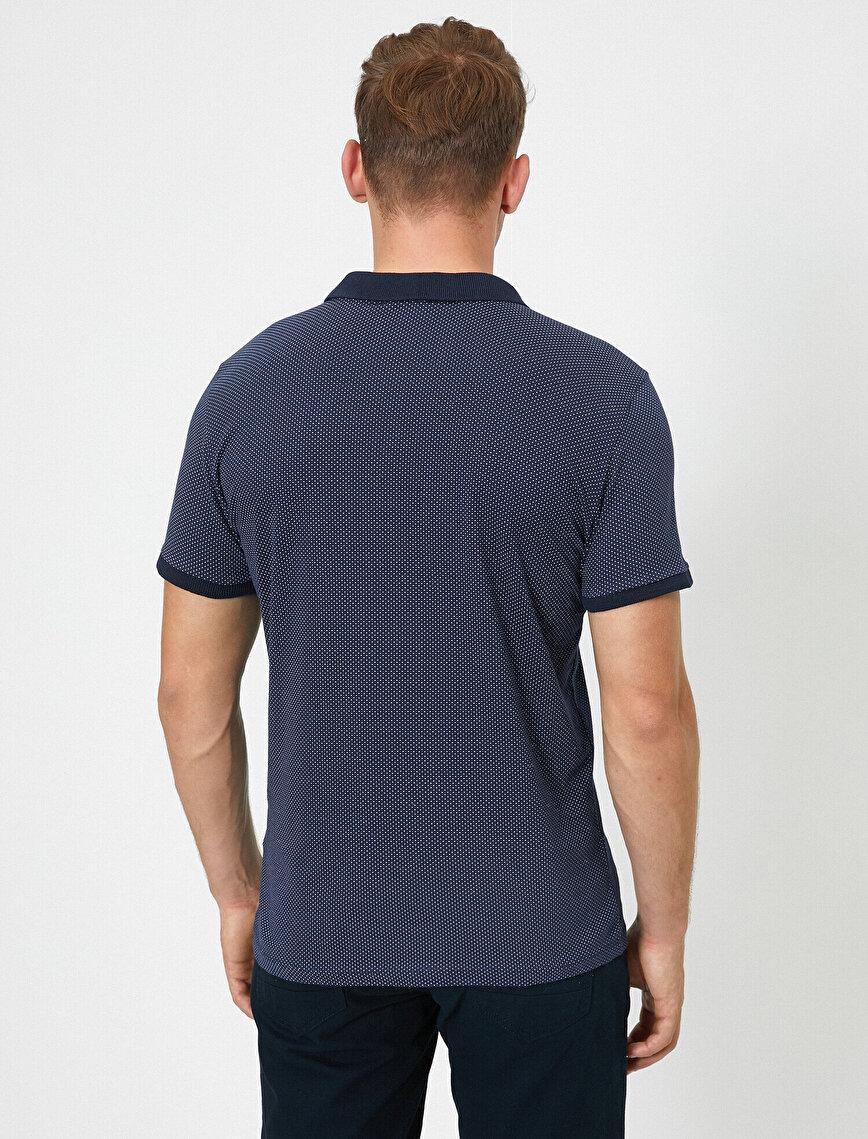 Short Sleeve Basic Polo Neck T-Shirt