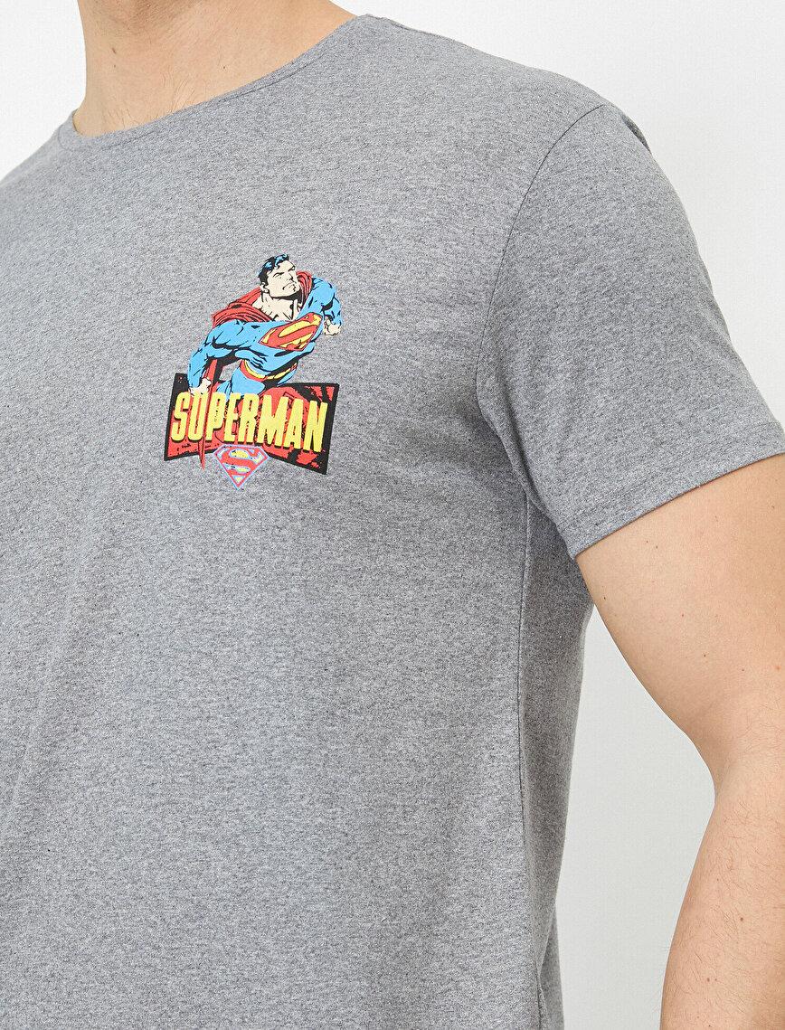 Süperman Lisanslı Baskılı T-Shirt