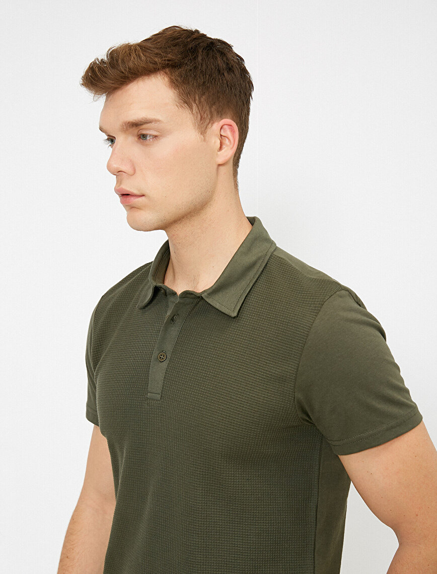 Polo Neck Slim Fit Short Sleeve T-Shirt