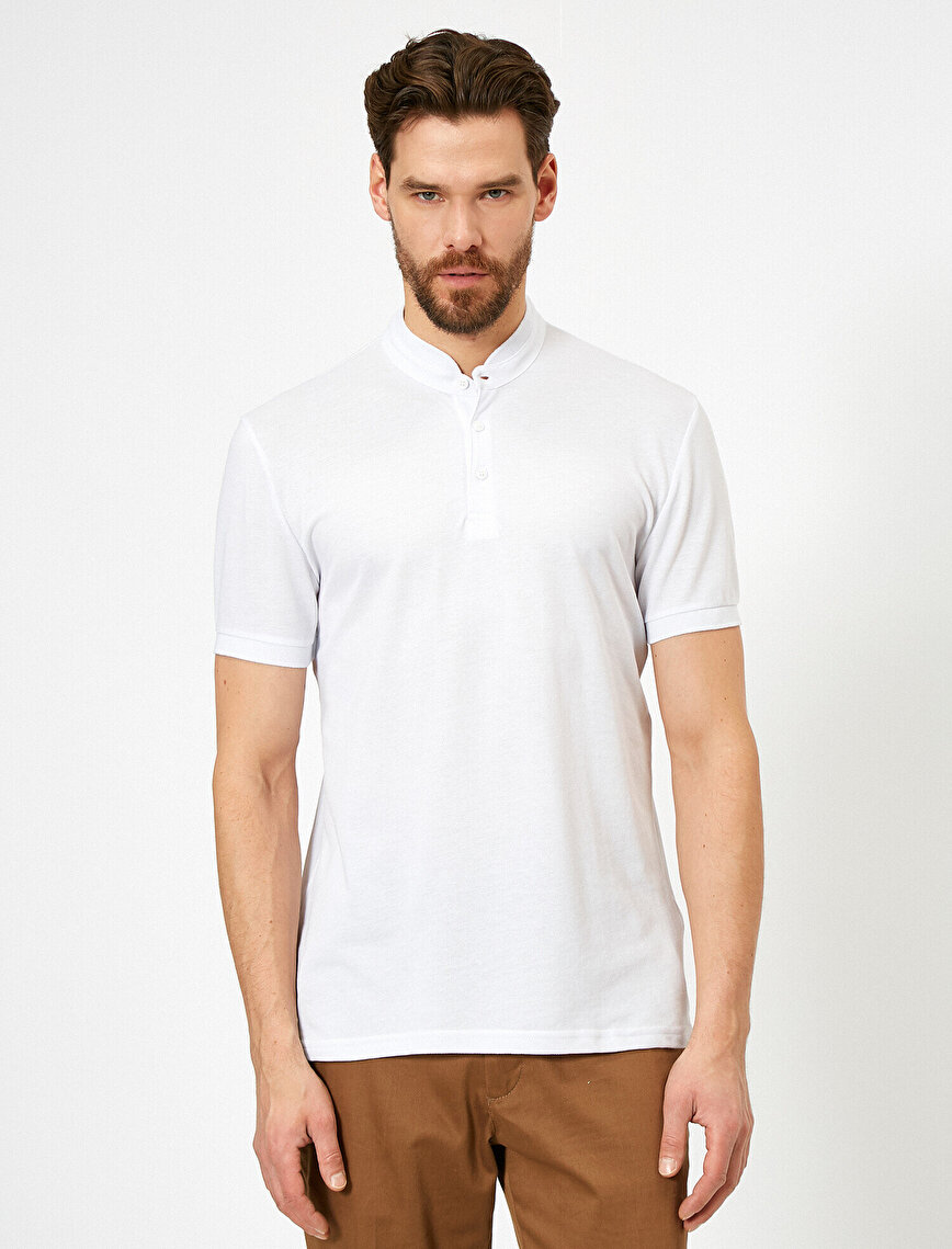 Hakim Yaka Basic Slim Fit Tişört