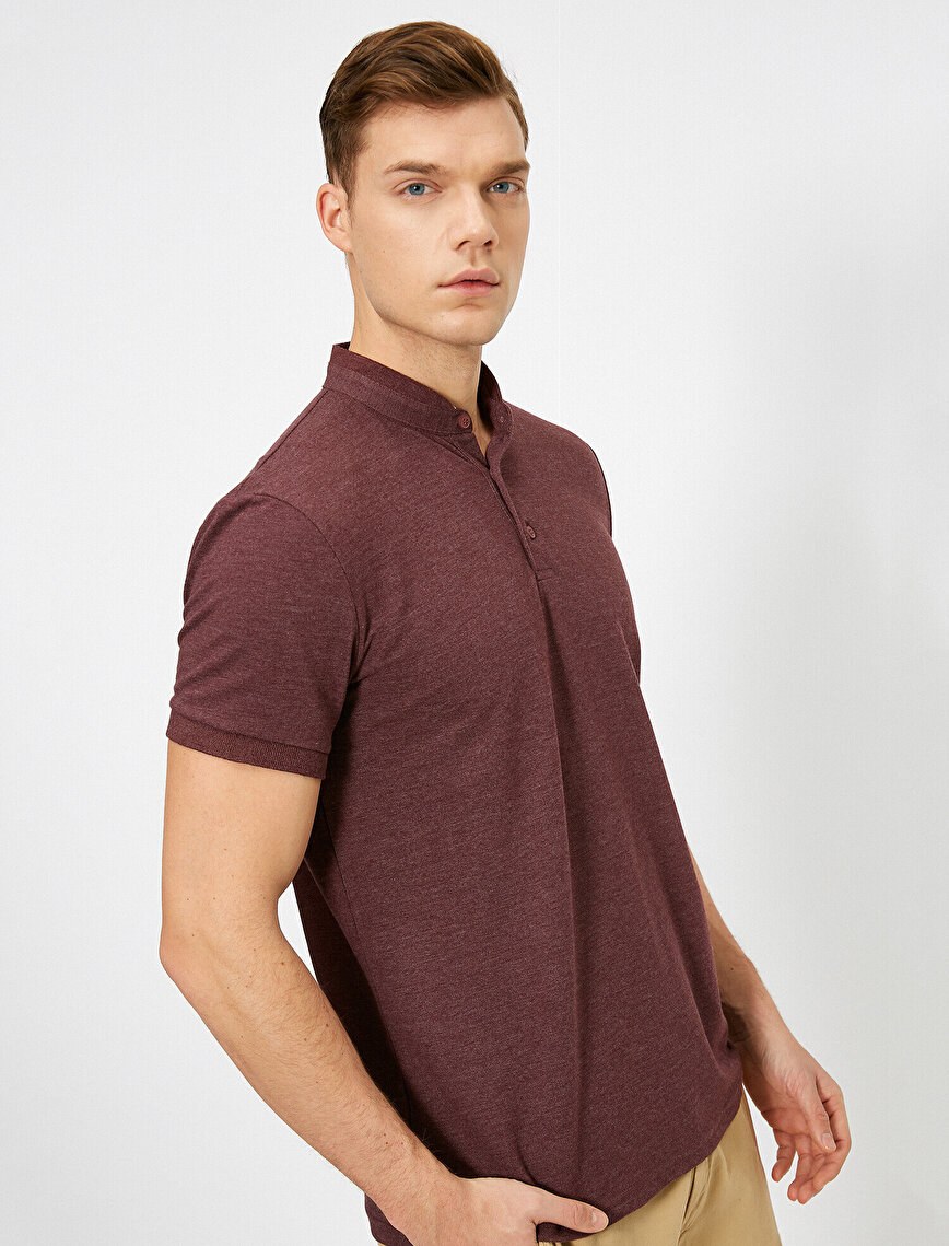 Mandarin Collar T-Shirt