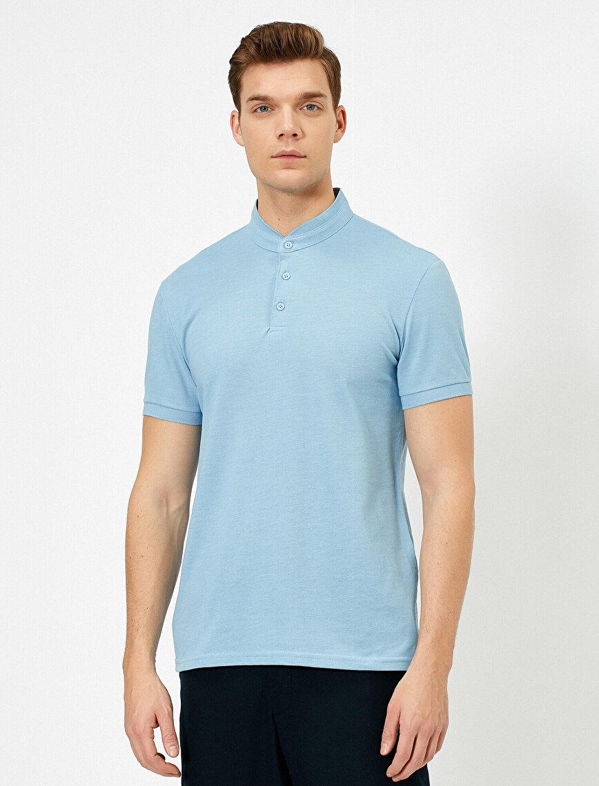 Mandarin Collar T-Shirt